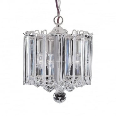 SIGMA - 3 Light Chrome Clear Acrylic Ceiling Pendant