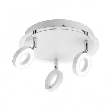 SILEDA - BathroomLED Ceiling Light White in White