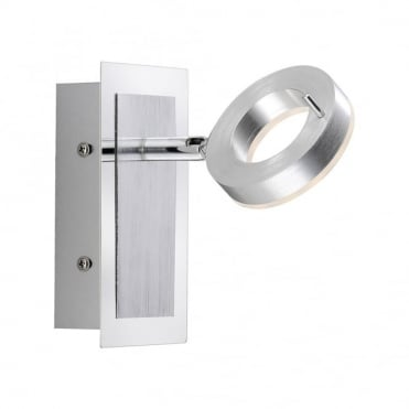 SILEDA - BathroomLED Wall Light Matte Aluminium , Switched