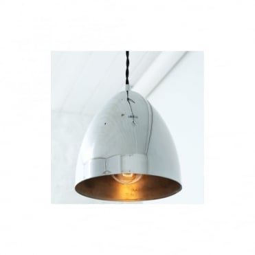 SKYLER - Cone Ceiling Pendant Light In Polished Chrome