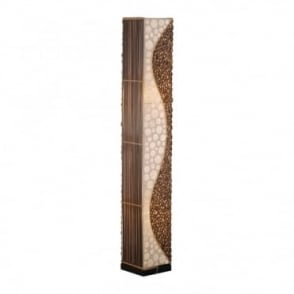 Abuja Africa Inspired Floor Lamp Mother Pearl Shade