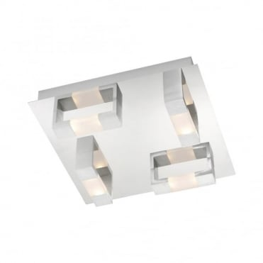 KEMOS - BathroomLED Ceiling Light Matte Aluminium