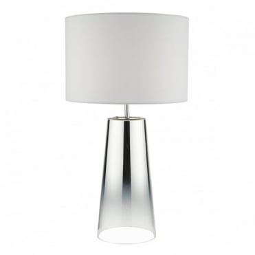 SMOKEY - Table Lamp Polished Chrome Complete With Shade Mirror