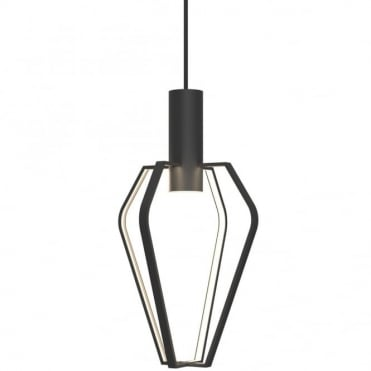 SPIDER - Modern Geometric Cage Ceiling Pendant Matte Black