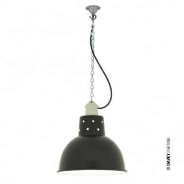 SPUN - Reflector With Suspension Lampholder Painted Black