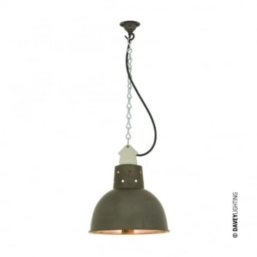 SPUN - Reflector With Suspension Lampholder Weathered Copper/Polished Copper