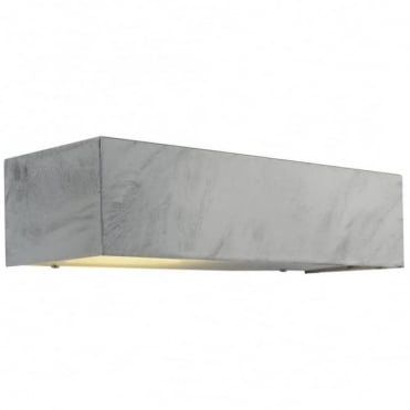 SQUARE - Modern Exterior Wall Light Galvanised Steel