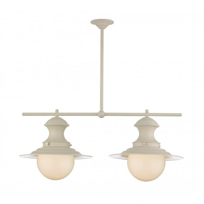 STATION - Lamp 2 Light Bar Pendant Cream