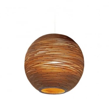 Extra large and oversized light fitting and ceiling shades sun 82cm diameter globe ceiling pendant natural brown recycled cardboard aloadofball Image collections