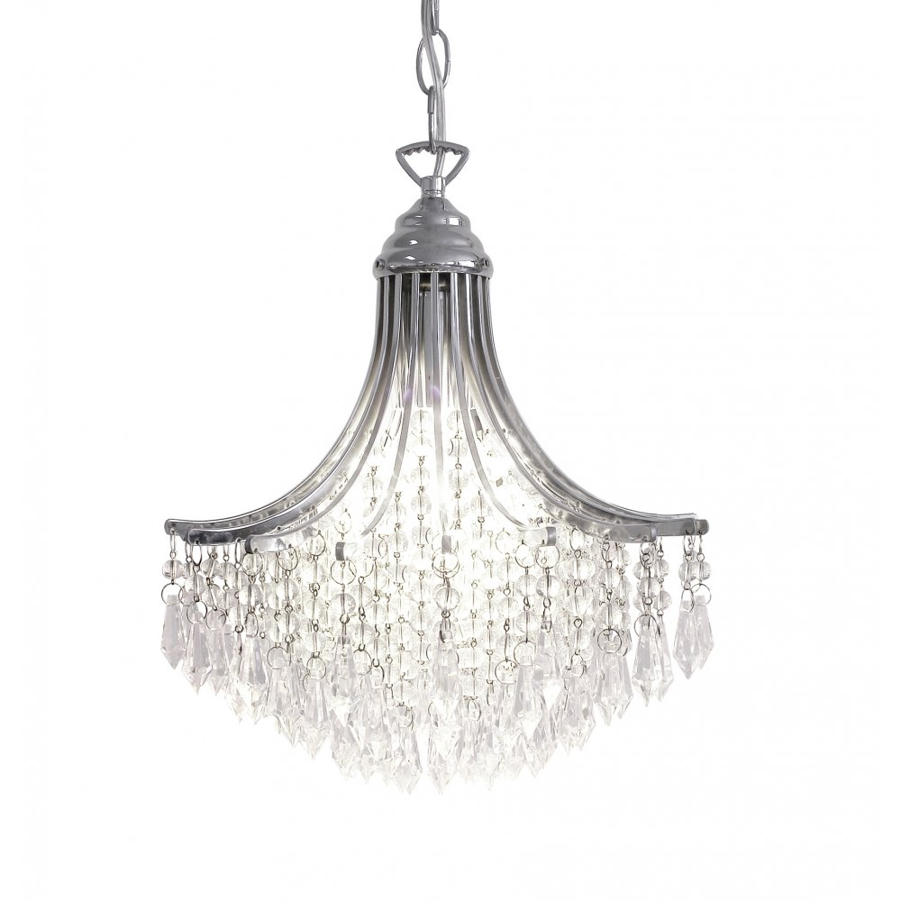 Suri Polished Chrome Double Insulated Small Crystal Chandelier