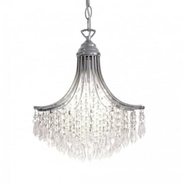 SURI - Polished Chrome Double Insulated Small Crystal Chandelier