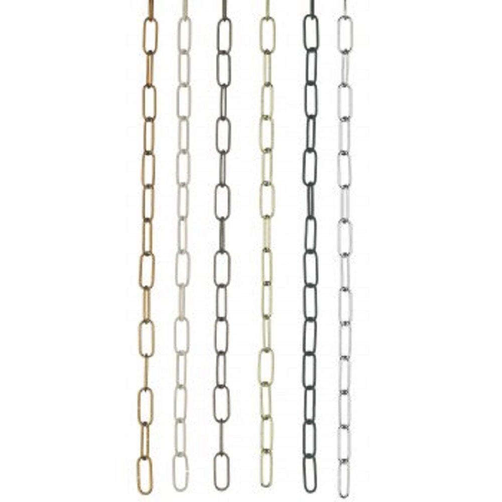 first rate dd8ec e098f SUSPENSION CHAIN - Chrome Link Chain For Chandeliers And Other Light  Fittings