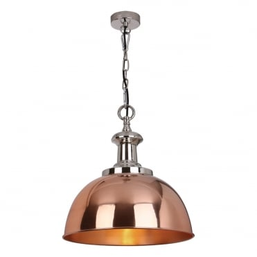 SYLVIE 1 Light Pendant Copper Nickel
