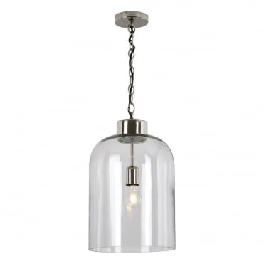 TALA Ceiling Pendant Polished Nickel Seeded Glass