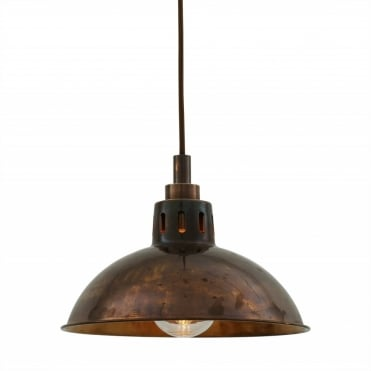 TALISE Industrial Antique Brass Bathroom Ceiling Pendant IP65
