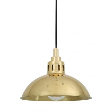 TALISE Industrial Polished Brass Bathroom Ceiling Pendant IP65