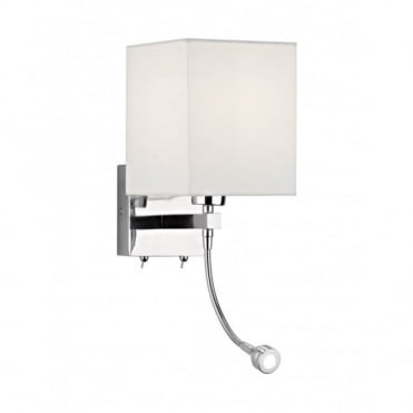 TATTON - Wall Light With Flexible LED Reading Arm , Switched