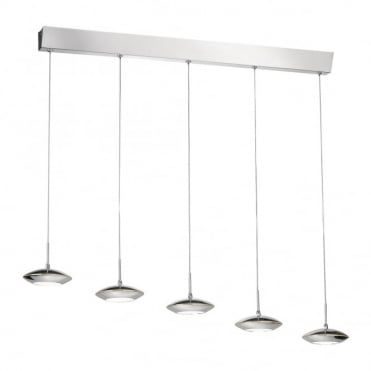 TEBUTT - LED Pendant Light Chrome in Chrome