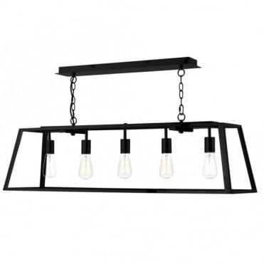 ACADEMY - 5 Light Ceiling Pendant (Black)