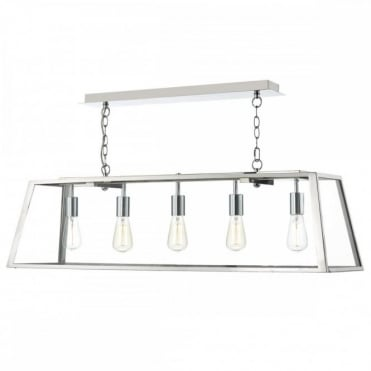 ACADEMY - 5 Light Ceiling Pendant Stainless Steel