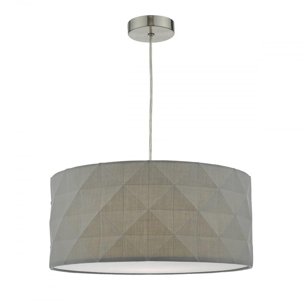 Aisha Grey Geometric Easy Fit Lampshade Lighting And