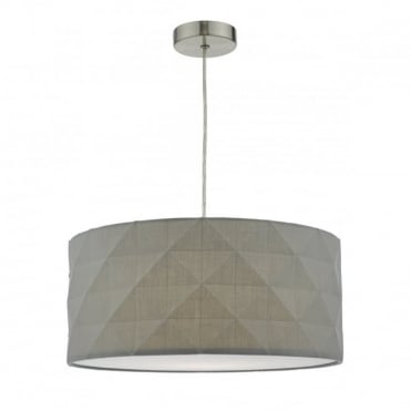AISHA - Grey Geometric Easy Fit Lampshade