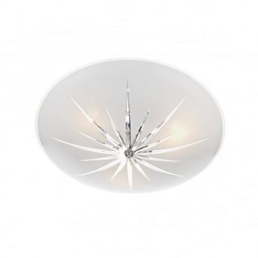 ALBANY - Circular Glass Semi-Flush Fitting Ceiling Light