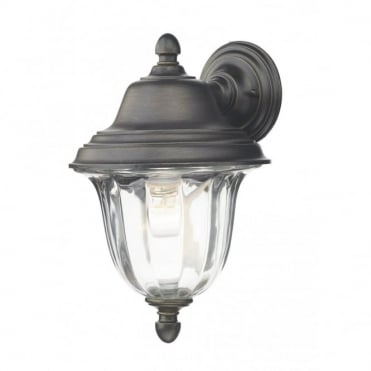 ALDGATE - Exterior Wall Light Outdoor Black Gold