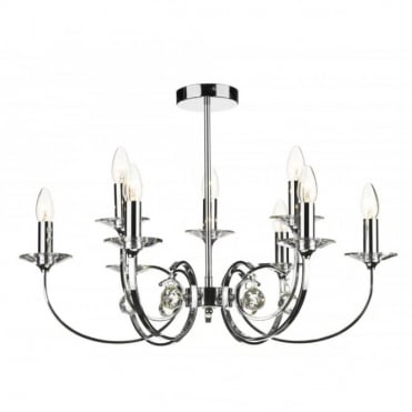 ALLEGRA - Chrome Ceiling Pendant For High Ceilings