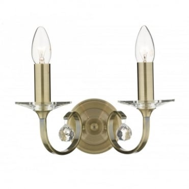 ALLEGRA - Double Insulated Wall Light In Antique Brass