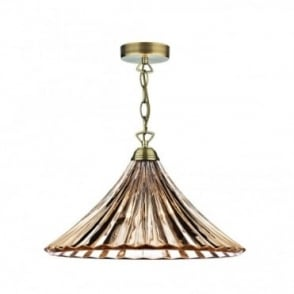 ARDECHE - Amber Glass Ceiling Pendant Light