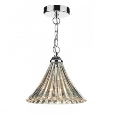 ARDECHE - Fluted Glass Single Ceiling Pendant