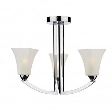 ARLINGTON - Modern Chrome 3 Arm Ceiling Light