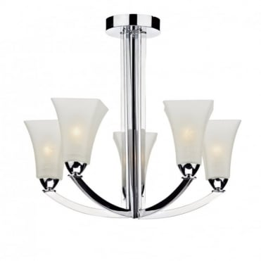 ARLINGTON - Semi-Flush Modern Chrome Ceiling Light