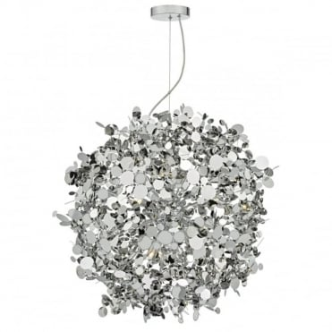 ASTRID - 12 Light Chrome Stainless Steel Ceiling Pendant