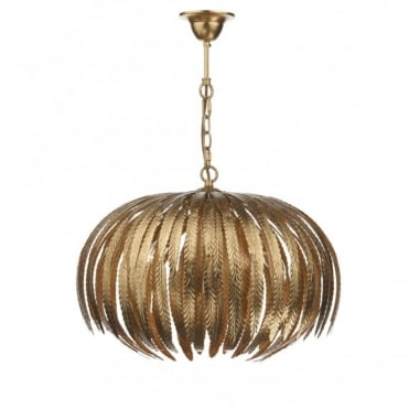 ATTICUS - Gold Ceiling Light Leaf Design Ceiling Pendant