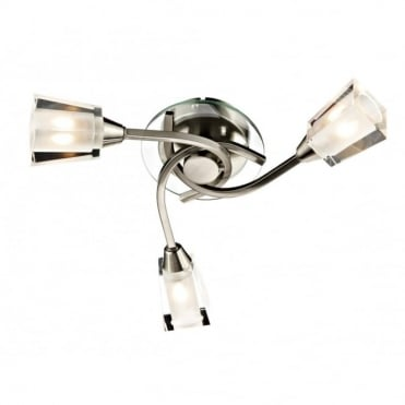 AUSTIN - Compact Satin Chrome Light For Low Ceilings