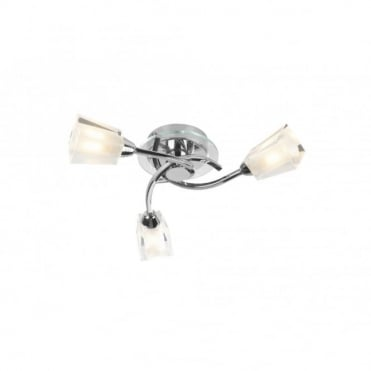 AUSTIN - Modern Chrome Ceiling Light For Low Ceilings