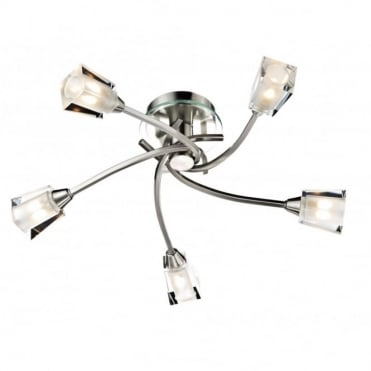 AUSTIN - Modern Satin Chrome Light For Low Ceilings