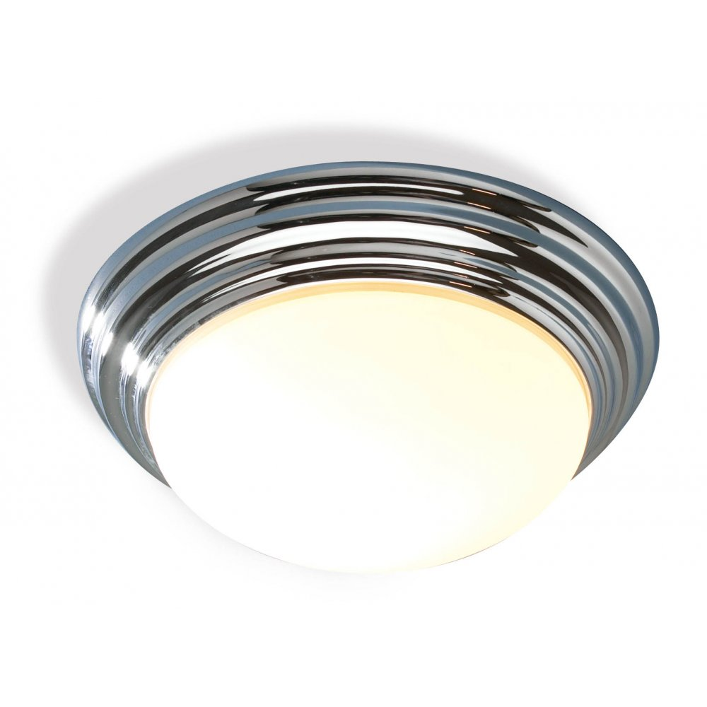 Traditional bathroom flush ceiling light with polished chrome finish barclay traditional flush bathroom ceiling light ip44 mozeypictures Choice Image