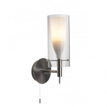 BODA - Modern Chrome And Glass Wall Light