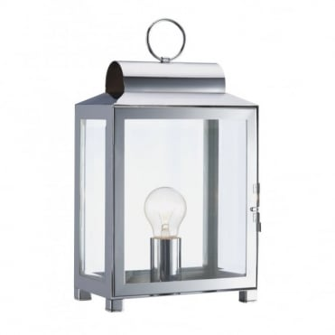 BOX - Traditional Metal Table Lamp (Chrome)