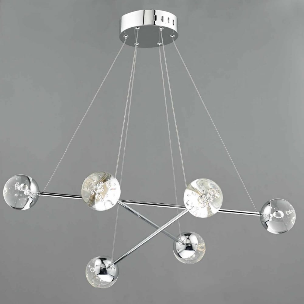 BUBBLES - 6 Light Sculptural Ceiling Pendant LED Polished ...