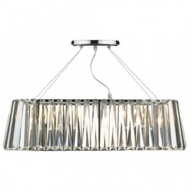 CECILIA - Oval Bar Ceiling Pendant Ceiling Light With Crystal