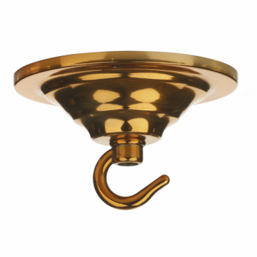 CEILING HOOK - Single Hook Ceiling Rose Plate Copper
