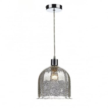 CEMBALO - Antique Silver Patterned Non Electric Ceiling Pendant