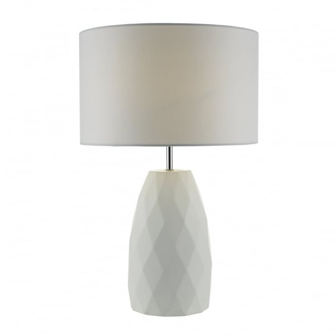 CIARA - Table Lamp White Complete With Shade Ceramic