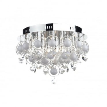 CLOUD - Large Crystal Light For Low Ceilings