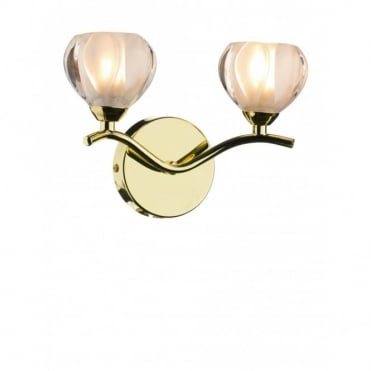 CYNTHIA - Brass Gold Compact Wall Light