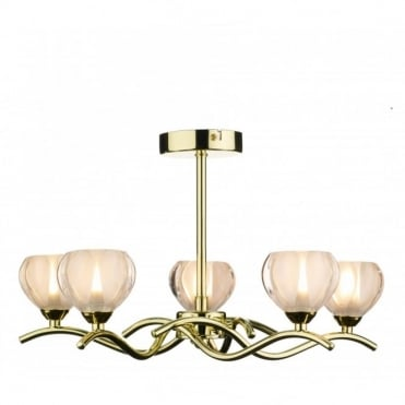 CYNTHIA - Brass Gold Light For Low Ceilings